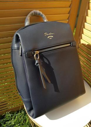 Городской стильный синий женский рюкзак david jones #5748