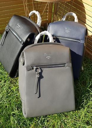 Городской стильный серый женский рюкзак david jones #5748