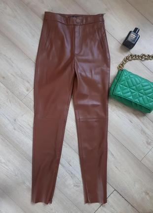 Шкіряні брюки легінси кожаные брюки легинсы