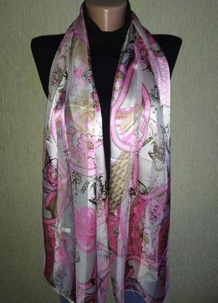 Франция, прекрасный шарф из натурального шелка