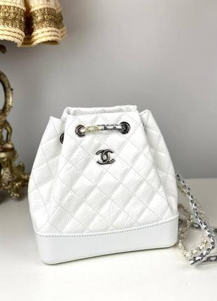 Рюкзак сумка женский кожаный белый брендовый