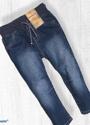 F&f стильные джинсы на резинке 2-3 года