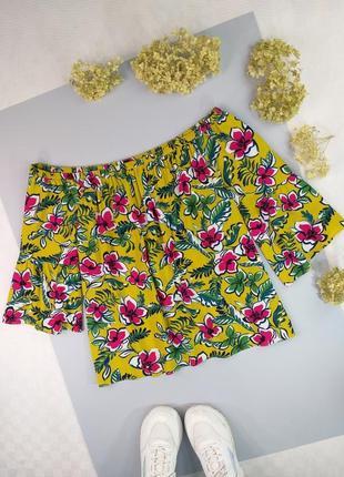 Блуза натуральная на плечи с широкими рукавами