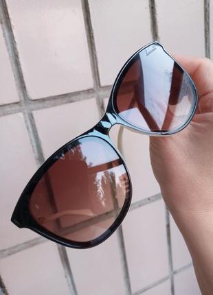 Стильные изящные очки квадратного типа оправа коричнево-бежевая 3 категория защиты из 4 существующих