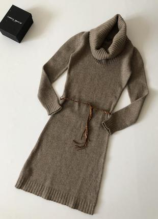 Длинное платье massimo dutti 45%альпака