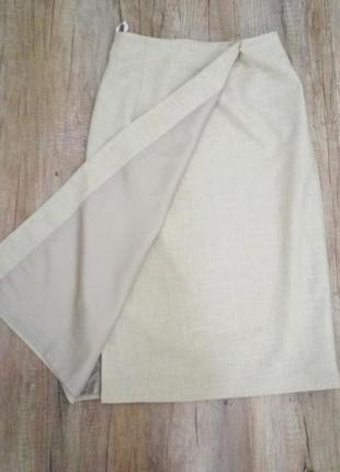 Юбка marks&spencer лен, на запах р.40