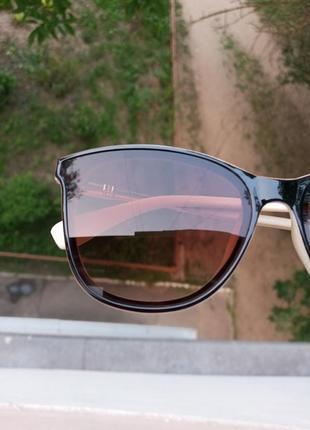 Стильные очки комбинированная оправа, качественные, минимализм, актуальные 3 категория защиты из 4 существующих7 фото