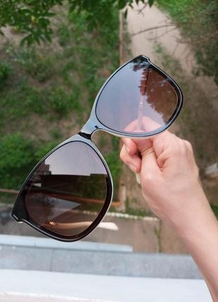 Стильные очки комбинированная оправа, качественные, минимализм, актуальные 3 категория защиты из 4 существующих6 фото