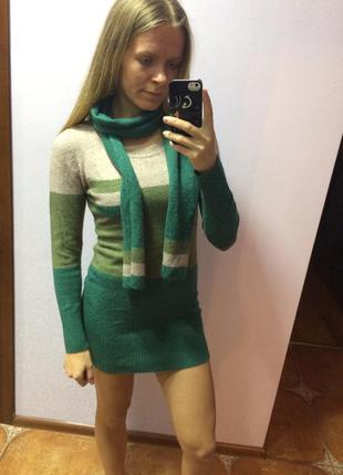 Новая кофта туника с шарфом