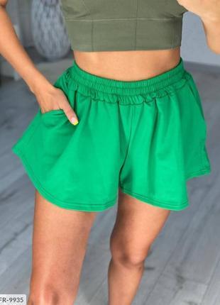Женские короткие шорты юбкой объёмные свободные