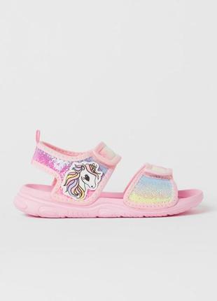 Яркие сандали, босоножки hm, хм 18 см