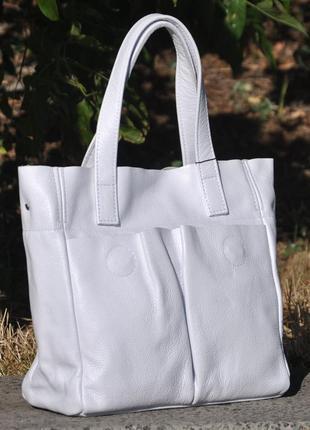 Кожаная белая сумка, цвета в ассортименте