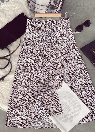 Стильная юбка в стиле зара в цветах в наличии4 фото
