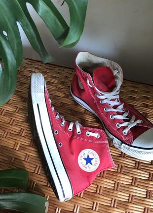 Червоні кеди all star ,converse, красные кеды