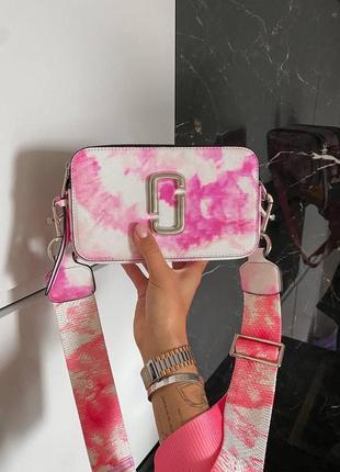 Сумка женская marc jacobs tay белая/розовые (марк джекобс, рюкзак, клатч, кошелек, сумочка)
