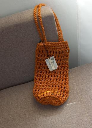 Плетенная вязанная сумка