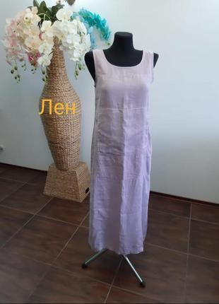 Платье миди италия лен с карманами