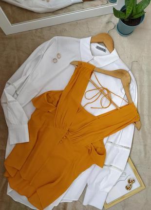 Красивая шифоновая блуза желтый топ zara