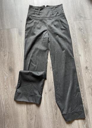 Классические шерстяные брюки zara