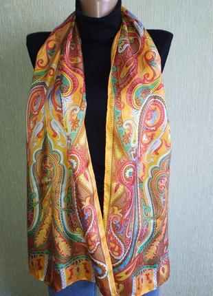 Codello прекрасный винтажный шарф из натурального шелка, шов роуль