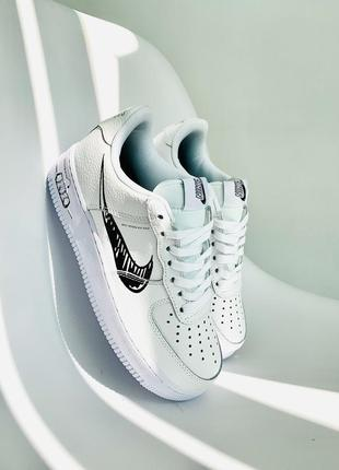 Женские кроссовки nike air force low sketch white