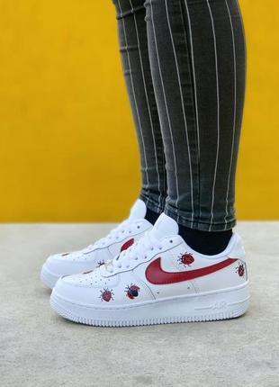 Nike air force white/ladybug кроссовки найк аир форс наложенный платёж купить
