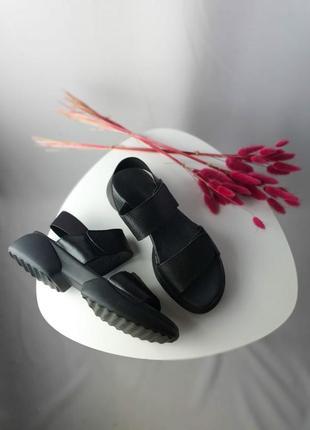 Босоножки натуральная кожа черные лето женские босоніжки
