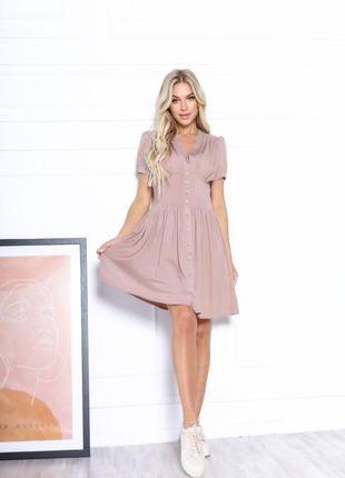 Платье летнее женское короткое мини нарядное легкое свободное розовое9 фото