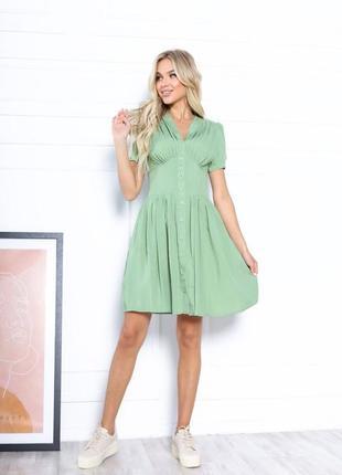 Платье летнее женское короткое мини нарядное легкое свободное розовое2 фото