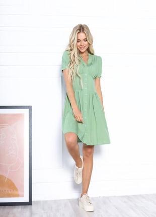 Платье летнее женское короткое мини нарядное легкое свободное розовое4 фото