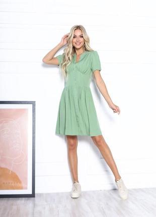 Платье летнее женское короткое мини нарядное легкое свободное розовое