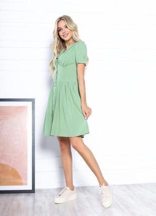 Платье летнее женское короткое мини нарядное легкое свободное розовое3 фото
