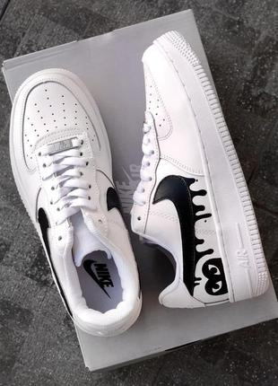 Nike air force white/black кроссовки найк аир форс наложенный платёж купить