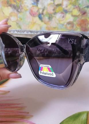 Эксклюзивные брендовые солнцезащитные женские очки лисички с поляризацией 2021