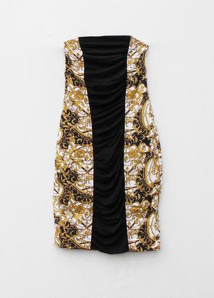 Летнее хлопковое нарядное облегающее платье бюстье