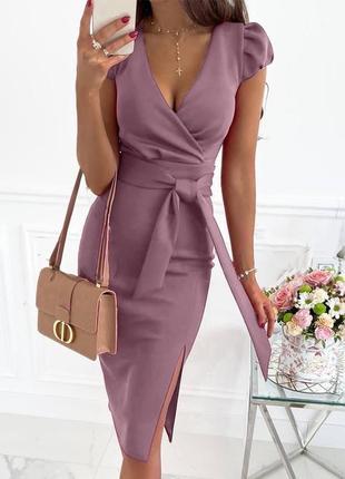 Платье летнее женское длинное миди нарядное легкое с поясом красное6 фото