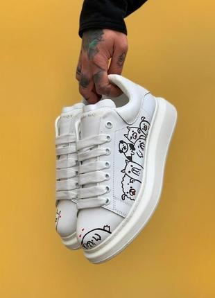 Alexander mcqueen oversized white/dog кроссовки александр маккуин наложенный платёж купить