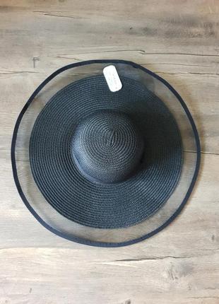 Шикарная чёрная шляпа braxton