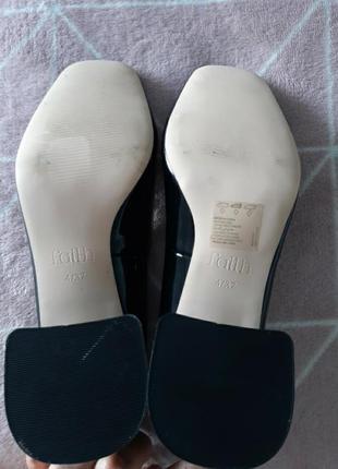 Красивые туфли эколак черные 36.5- 37р4 фото