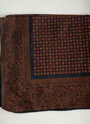 Винтажный карманный шелковый носовой платочек платок паше