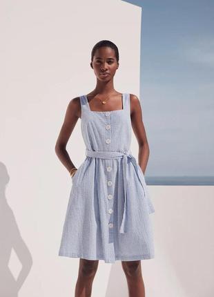 Mango фактурное платье с пуговицами, s размер, 43019074