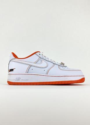 Кроссовки аир форсы nike air force low white orange