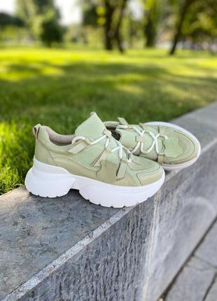 Кожаные кроссовки, размер 36-40
