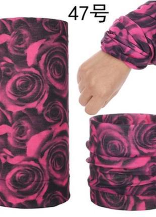 Баф жіночий з трояндами , баф женский с розами