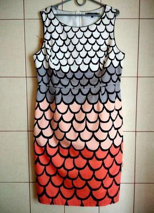 Шикарное платье миди из натурального хлопка