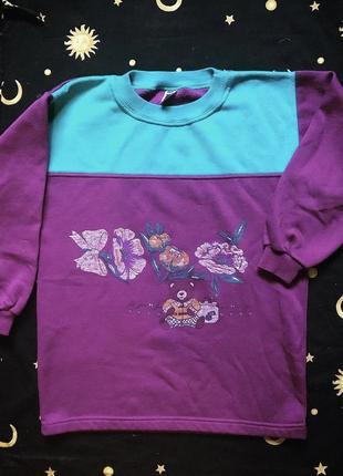 ❤️2=3❤️ винтажный свитер свитшот