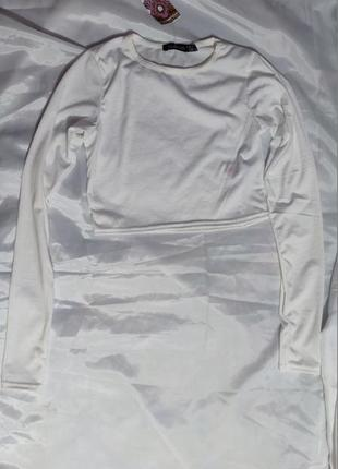 Женский топ boohoo, размер xs, белый