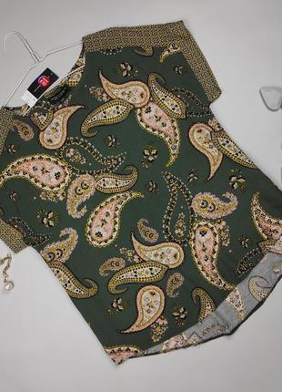 Блуза легкая в принт пейсли 100% вискоза uk 14/42/l