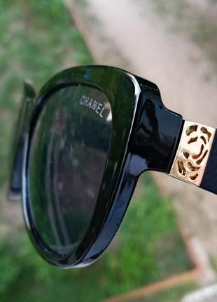 Стильные чёрные аккуратные очки типа коши лисички италия 3 категория защиты из 4 существующих