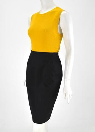 Prada женская оригинальная юбка карандаш черная классическая pencil размер 40 - с/м италия